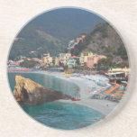 Cinque Terre - playa de Monterosso de la mañana Posavasos Para Bebidas