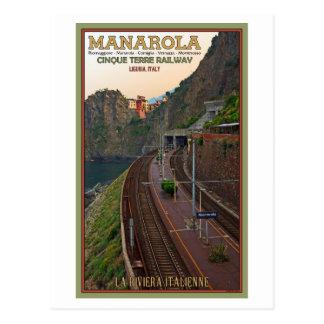 Cinque Terre Railway - Manarola Postcard