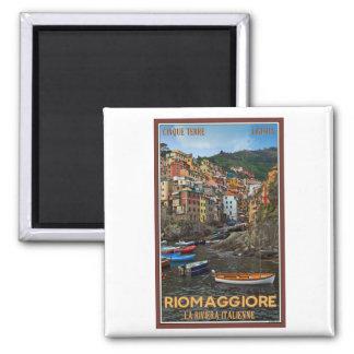 Cinque Terre - Riomaggiore 2 Inch Square Magnet