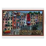 Cinque Terre - Riomaggiore Houses Greeting Cards
