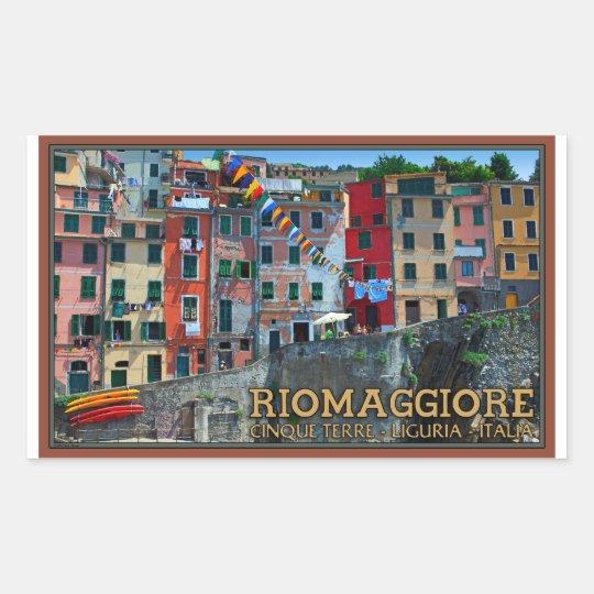 Cinque Terre - Riomaggiore Houses Rectangular Sticker