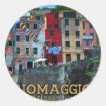 Cinque Terre - Riomaggiore Houses Round Sticker
