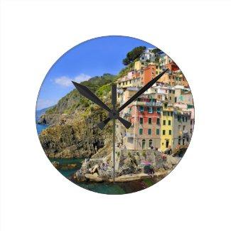 Riomaggiore Cinque Terre Wall Clock
