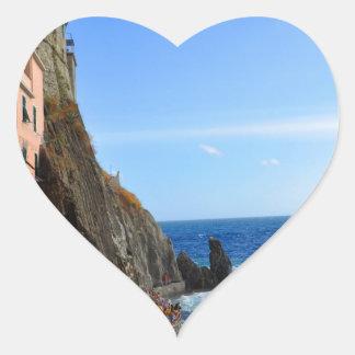 Cinque Terre Heart Stickers