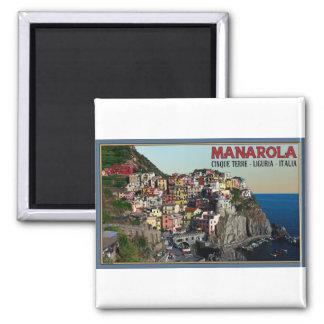 Cinque Terre - The Town of Manarola 2 Inch Square Magnet
