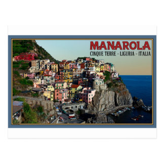 Cinque Terre - The Town of Manarola Postcard