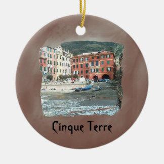 Cinque Terre - Vernazza Ceramic Ornament