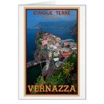 Cinque Terre - Vernazza desde arriba Tarjeta De Felicitación