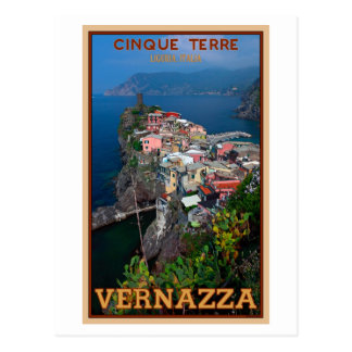 Cinque Terre - Vernazza desde arriba Postales
