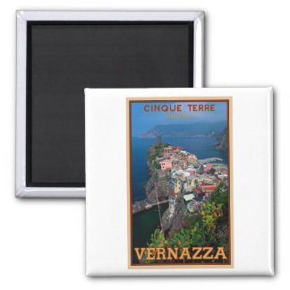 Cinque Terre - Vernazza from Above 2 Inch Square Magnet