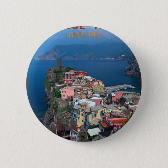 Cinque Terre - Vernazza from Above Button