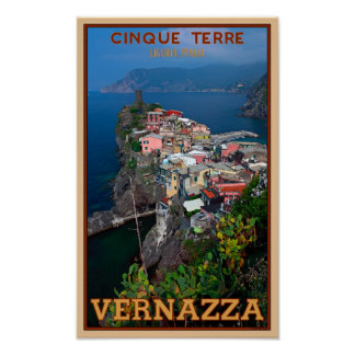 Cinque Terre - Vernazza from Above Poster