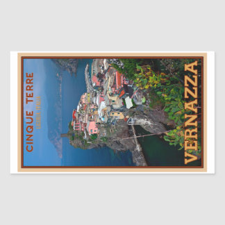 Cinque Terre - Vernazza from Above Rectangular Sticker
