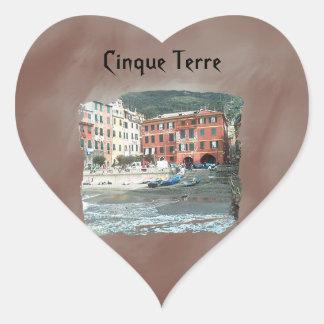 Cinque Terre - Vernazza Heart Stickers