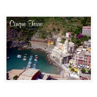 cinque vernazza aerial postcard