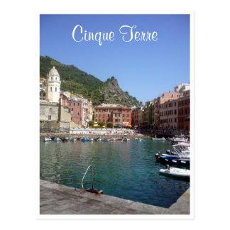 cinque vernazza swim postcard
