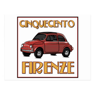 Cinquecento Firenze - Fiat 500 Florence Post Card