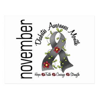 Cinta 1 de la flor del mes de la conciencia de la tarjetas postales