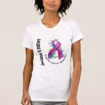 Cinta 3 de la flor del cáncer de tiroides camisetas