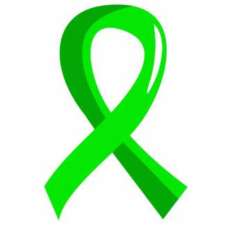 Cinta 3 de la verde lima del linfoma Non-Hodgkin Escultura Fotográfica