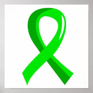 Cinta 3 de la verde lima del linfoma Non-Hodgkin Impresiones