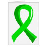 Cinta 3 de la verde lima del linfoma Non-Hodgkin Tarjeton
