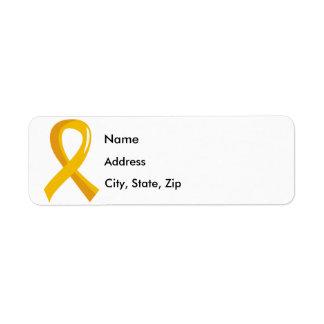 Cinta 3 del oro de Neuroblastoma Etiquetas De Remite