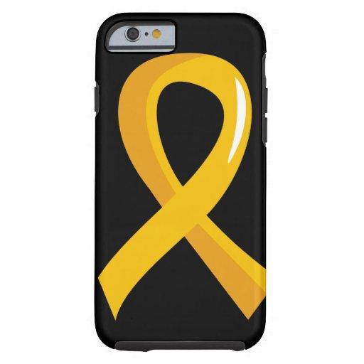 Cinta 3 del oro del cáncer de la niñez funda de iPhone 6 tough