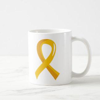 Cinta 3 del oro del cáncer de la niñez taza clásica