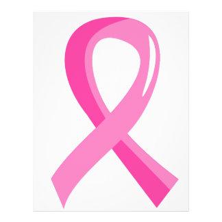 """Cinta 3 del rosa del cáncer de pecho folleto 8.5"""" x 11"""""""
