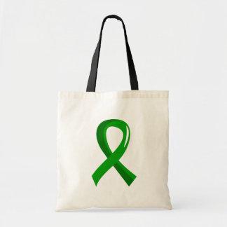 Cinta 3 del verde de la parálisis cerebral bolsa lienzo