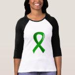 Cinta 3 del verde de la salud mental camisetas