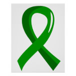Cinta 3 del verde de la salud mental impresiones