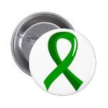 Cinta 3 del verde de la salud mental pin