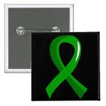 Cinta 3 del verde de la salud mental pins