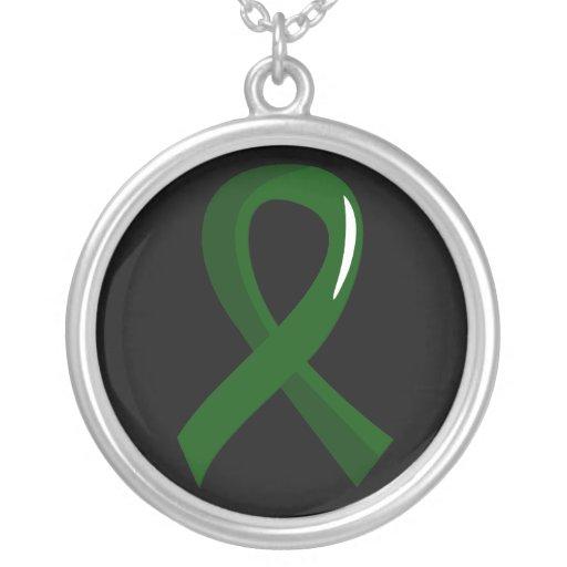 Cinta 3 del verde esmeralda de la enfermedad del h collares personalizados