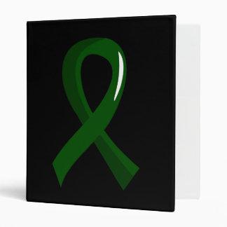Cinta 3 del verde esmeralda del cáncer de hígado