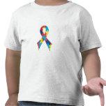 Cinta A4 de la conciencia del autismo Camisetas