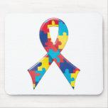Cinta A4 de la conciencia del autismo Tapetes De Ratón