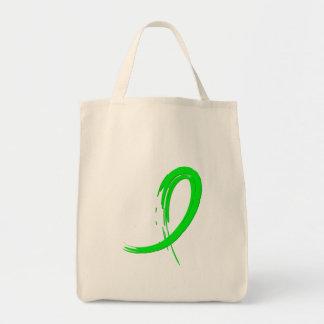 Cinta A4 de la verde lima de la distrofia muscular Bolsas Lienzo