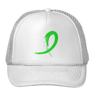 Cinta A4 de la verde lima de la distrofia muscular Gorras