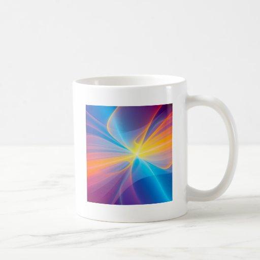 Cinta abstracta del flujo tazas
