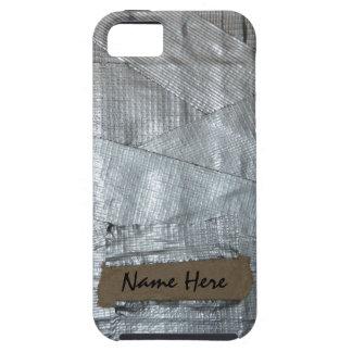 Cinta aislante y etiqueta rasgada de la cartulina iPhone 5 cobertura