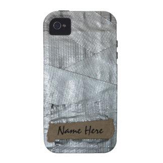 Cinta aislante y etiqueta rasgada de la cartulina iPhone 4 carcasa