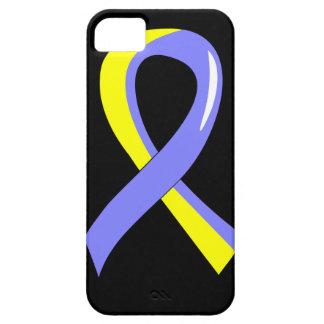 Cinta amarilla azul 3 de Síndrome de Down iPhone 5 Funda