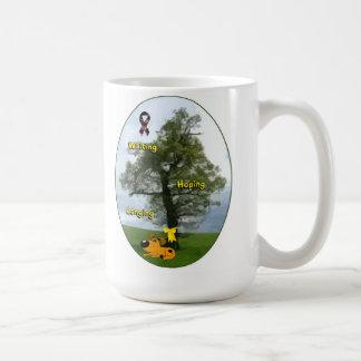 Cinta amarilla - calabaza que espera, esperando, taza de café