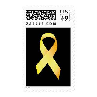 Cinta amarilla de la prevención del suicidio envio