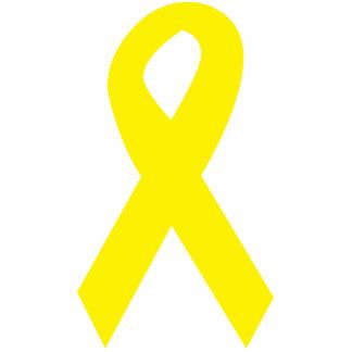 Cinta amarilla de las tropas llavero fotográfico