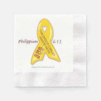 Cinta amarilla del cáncer servilleta desechable