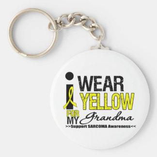 Cinta amarilla del desgaste del sarcoma I para mi  Llavero Redondo Tipo Pin
